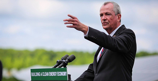 New Jersey Gov. Phil Murphy (D) gestures before an audience. Photo credit: Gov. Phil Murphy/Facebook.