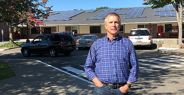 David Waterman city councilor in the community of Tenino. Photo credit: Ben Storrow/E&E News