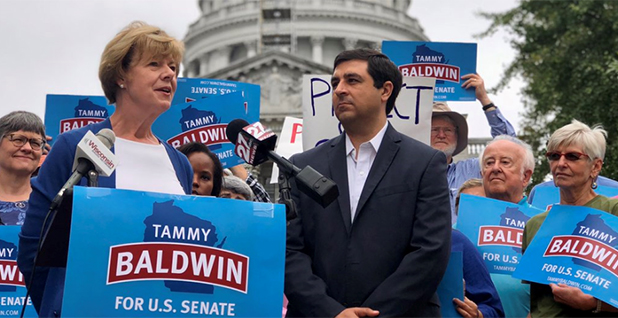 Sen. Tammy Baldwin (D-Wis.). Photo credit: @tammybaldwin/Twitter