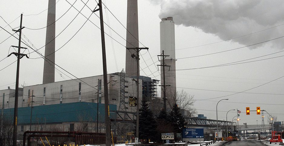 The Monroe Power Plant in Monroe, Mich., was built in the early 1970s. Photo credit: Renee Schoof/TNS/Newscom