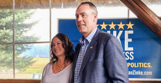 Interior Secretary Ryan Zinke and his wife Lolita Zinke. Photo credit: Zinke/Facebook
