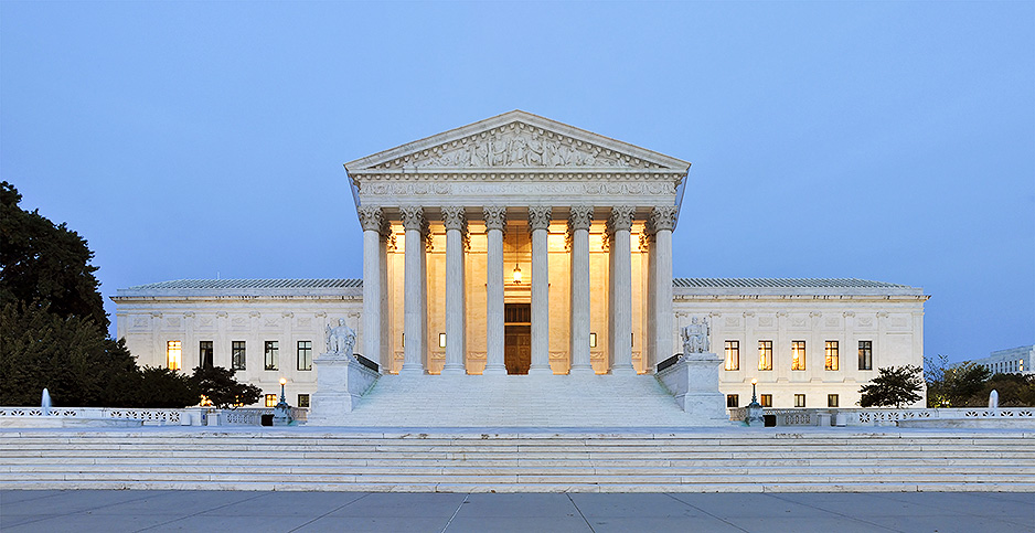 Supreme Court at dusk. Photo credit: Joe Ravi/Wikimedia Commons