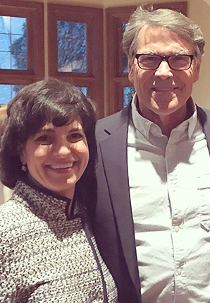 Christi Craddick and Rick Perry. Photo credit: @ChristiCraddick/Twitter