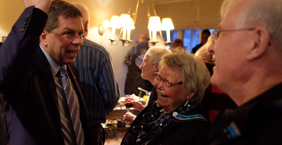 Mark Begich at fundraiser. Photo credit: Margaret Kriz Hobson/E&E News
