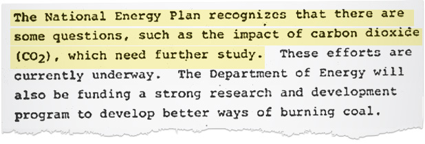 Document describing Carter admin's energy plan for the next decade. Image credit: Court records filed by the plaintiffs in <em>Juliana v. United States</em>