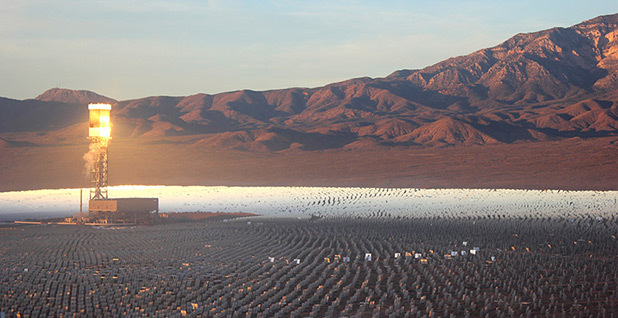 Ivanpah solar power facility. Photo credit: Phil Taylor/File/E&E News