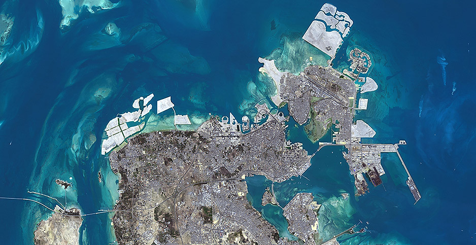 The island nation of Bahrain. Photo credit: Planet Observer/UIG Universal Images Group/Newscom