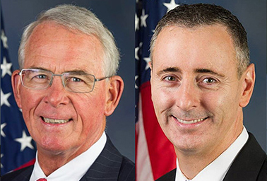 Reps. Francis Rooney (R-Fla.) and Brian Fitzpatrick (R-Pa.). Photo credit: U.S. House/Wikipedia