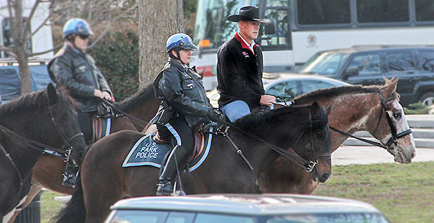 Ryan Zinke on a horse. Photo credit: BSEE/Twitter