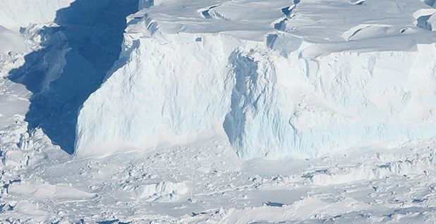 Antarctica's Thwaites Glacier could raise sea levels if it collapses. Photo credit: James Yungel/NASA