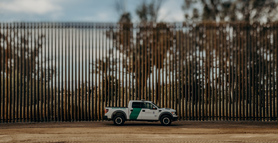 In Calexico, Calif., U.S. Department of Homeland Security is building a 30-foot steel bollard wall on the border with Mexico. Photo credit: USCBP/Polaris/Newscom
