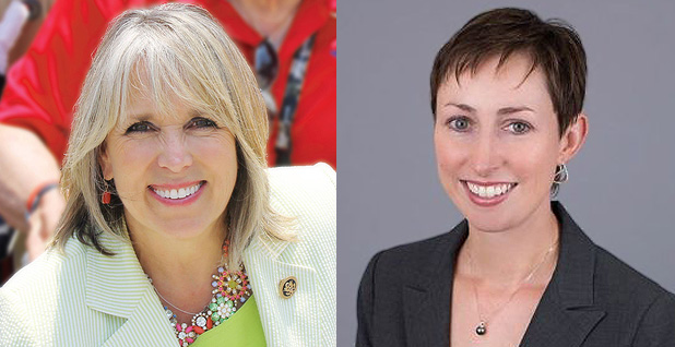 Michelle Lujan Grisham (D-N.M.) and New Mexico Energy Secretary-designee Sarah Cottrell Propst. Photo credit: Grisham/Facebook; New Mexico Energy, Minerals, and Natural Resources Department(Propst.)