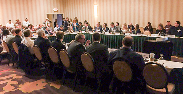 The Interior Department's Royalty Policy Committee meet in June in Albuquerque, N.M.  Photo credit: Pamela King/E&E News