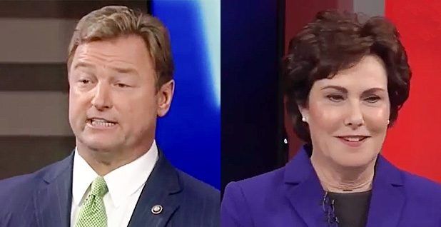 Sen. Dean Heller (R-Nev.) and Rep. Jacky Rosen (D-Nev.). Photo credit: C-SPAN