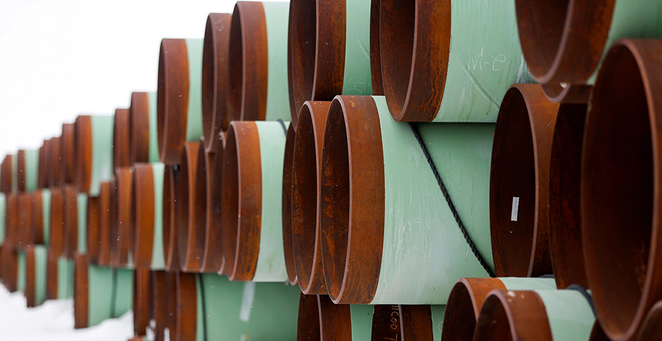 Keystone XL pipeline pieces. Photo credit: Terray Sylvester/Reuters/Newscom