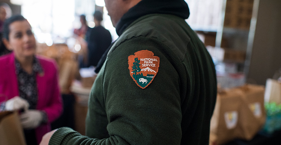 National Park Service patch. Photo credit: Tom Williams/CQ Roll Call/Newscom