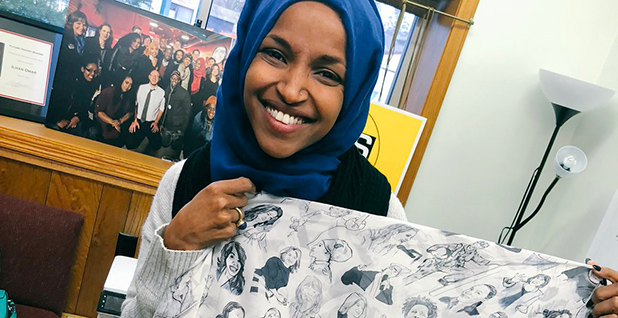 Ilhan Omar. Photo credit: @IlhanMN/Twitter