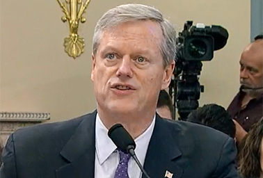 Gov. Charlie Baker (R-Mass.). Photo credit: C-SPAN