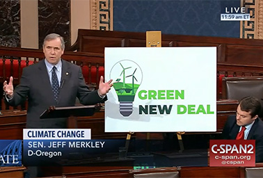 Sen. Jeff Merkley (D-Ore.). Photo credit: C-SPAN