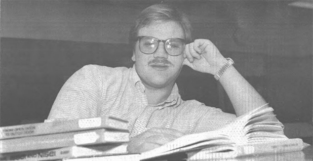 David Bernhardt as a college student. Photo credit: Matt Wells/MIRROR/University of Northern Colorado