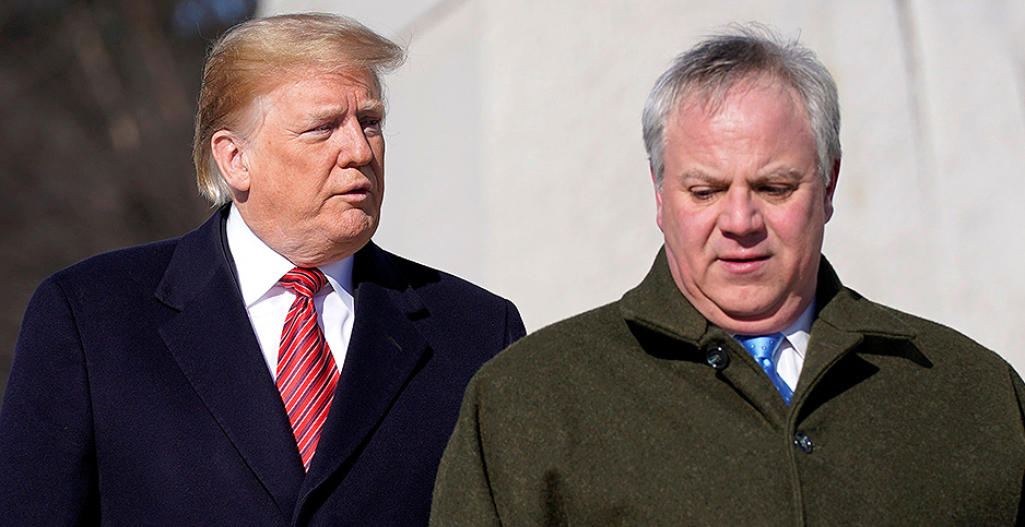 President Trump and David Bernhardt. Photo credit: Joshua Roberts/Reuters/Newscom