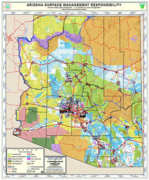 Arizona land management map. Photo credit: Arizona State Land Department
