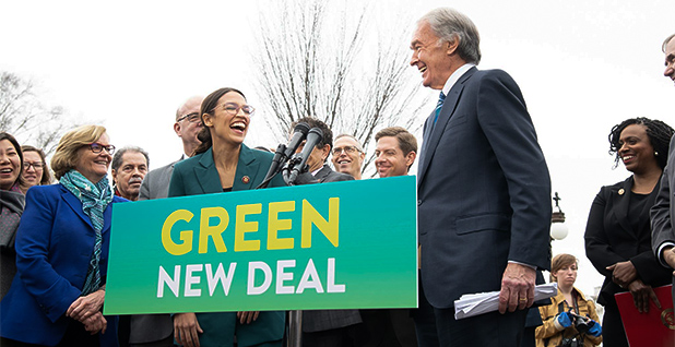Rep. Alexandria Ocasio-Cortez (D-N.Y.) and Sen. Ed Markey (D-Mass.). Photo credit: Markey/Facebook