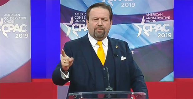 Sebastian Gorka. Photo credit: @CPAC/Twitter