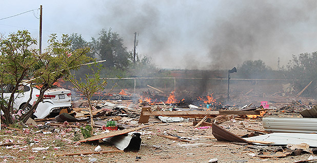 Remains of the of the Tercero family home outside Midland, Tx. Photo credit: Midland County fire marshal's office