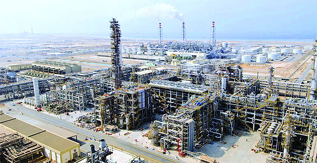 Aerial view of the Petro Rabigh Petrochemical and refining complex. Photo credit: Sumitomo Chemical Co., Ltd.