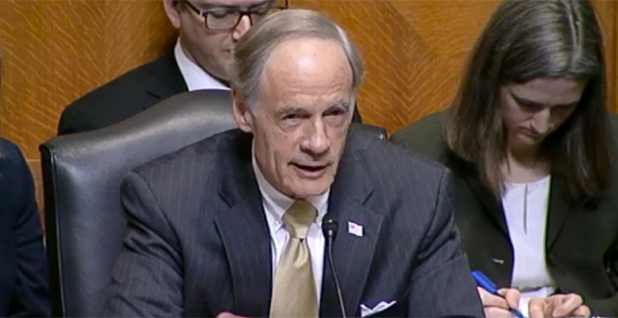 Tom Carper (D-Del.). Photo credit: Environment and Public Works Committee