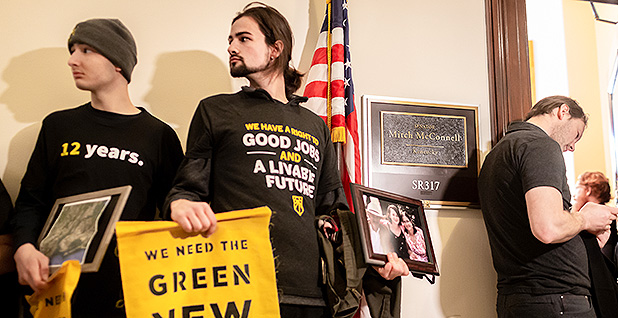 Green New Deal activists. Photo credit: Pacific Press/Sipa USA/Newscom