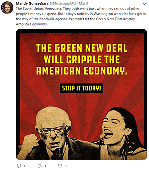 Anti-Green New Deal twitter post. @MississippiMG/Twitter