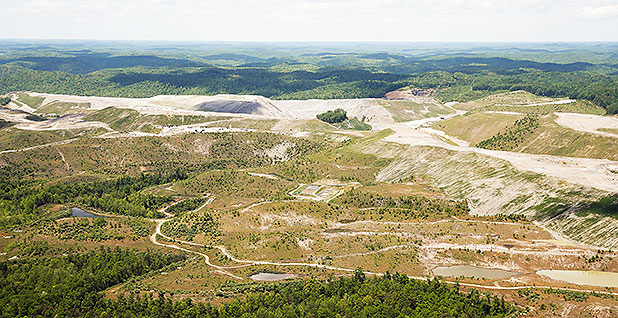 An aerial view of the Hobet coal mine in Boone County, W.Va. Photo credit: Jonathan Ernst/REUTERS/Newscom