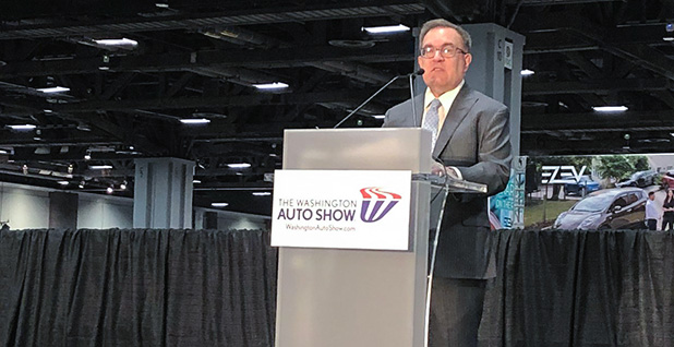 Andrew Wheeler at Washington Auto Show. Photo credit: @CleanAirMoms/Twitter