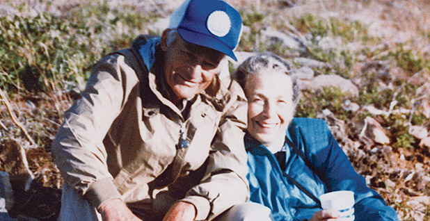 Sam and Helen Walton outside. Photo credit: Walmart Museum