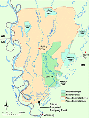 Yazoo backwater map. Photo credit: Fish and Wildlife Service
