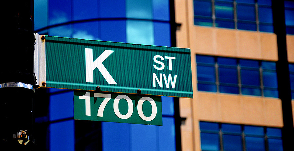 K Street sign, Washington, D.C. Photo credit: Glyn Lowe/Flickr