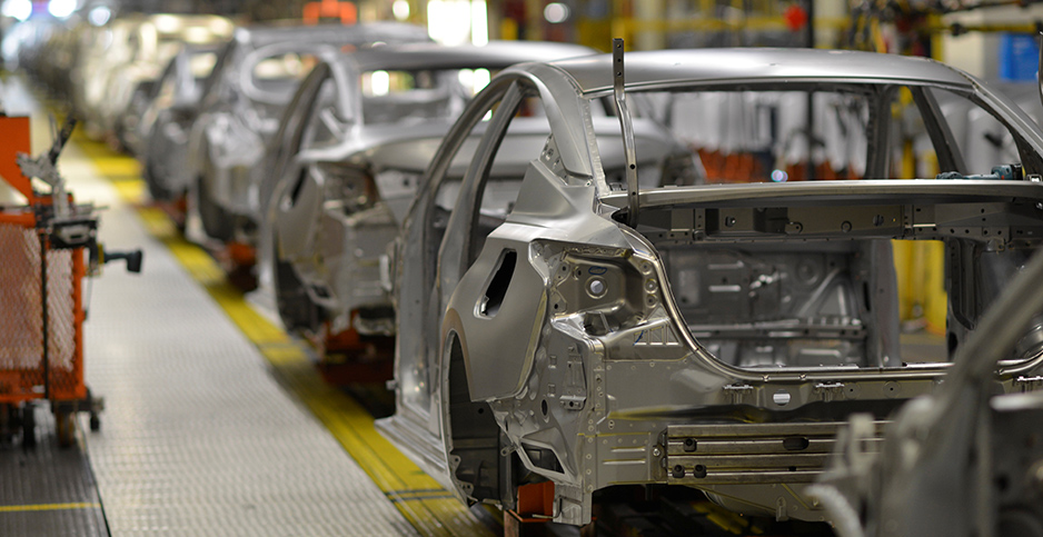 Car assembly line. Photo credit: William Deshazer/Reuters/Newscom