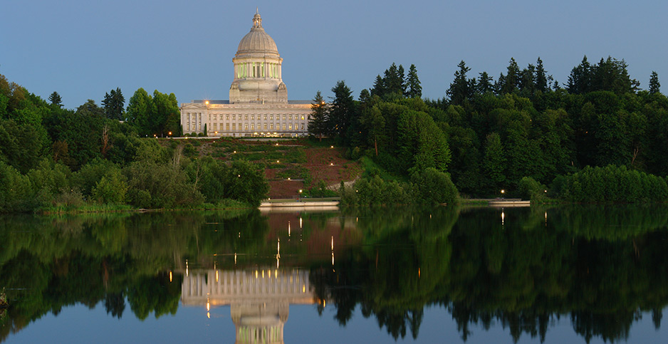 The Washington state Capitol in Olympia. Photo credit: Andre Jenny Stock Connection Worldwide/Newscom