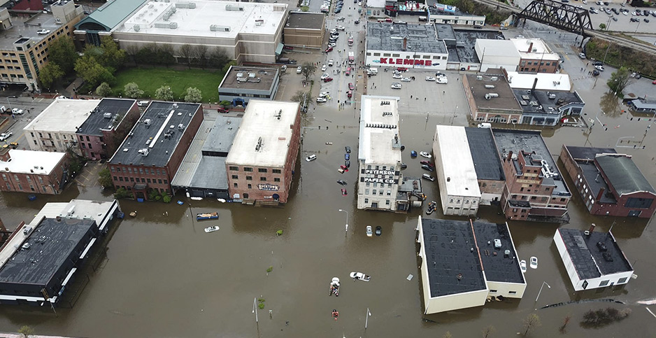 CLIMATE IMPACTS: Record floods worsened by warming and levees  'How