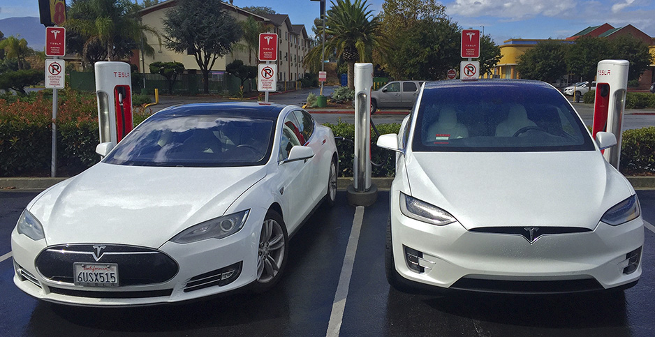 Tesla Model X and S. Photo credit: Steve Jurvetson/Wikimedia Commons