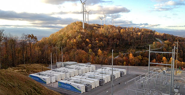 Grid storage batteries. Photo credit: AES Corp.