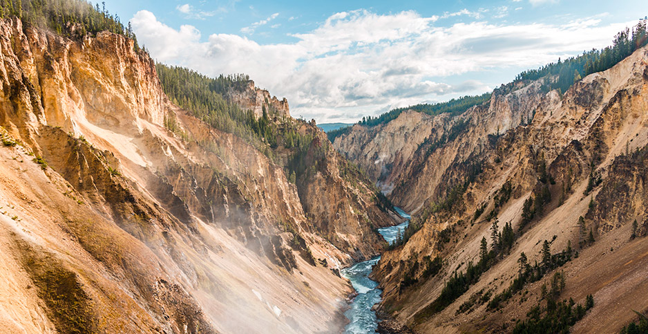 Plaintiffs argue in a lawsuit that government inaction on climate change is degrading public lands like Yellowstone National Park, seen here. Photo credit: imageBROKER/Moritz Wolf/Newscom