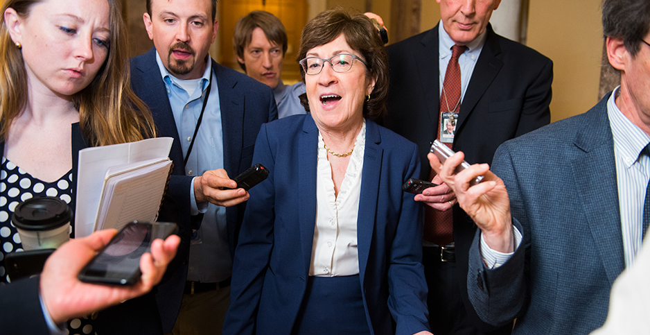 Susan Collins. Photo credit: Tom Williams/CQ Roll Call/Newscom