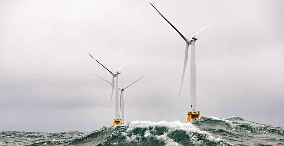 Block Island Wind Farm is seen off the coast of Rhode Island. Photo credit: Dennis Schroeder/NREL