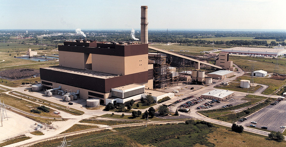 Pleasant Prairie coal plant. Photo credit: We Energies/MCT/Newscom