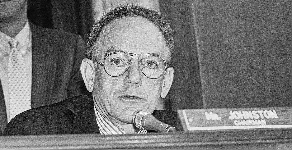 Former Sen. J. Bennett Johnston (D-La.). Photo credit: CQ Archive/Associated Press