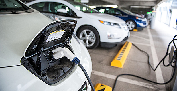 Electric vehicle charging. Photo credit: Department of Energy