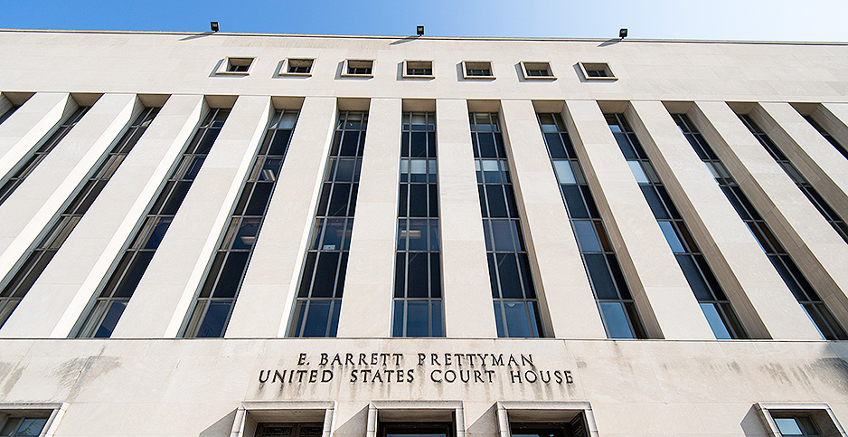 E. Barrett Prettyman courthouse. Photo credit: Bill Clark/CQ Roll Call/Newscom